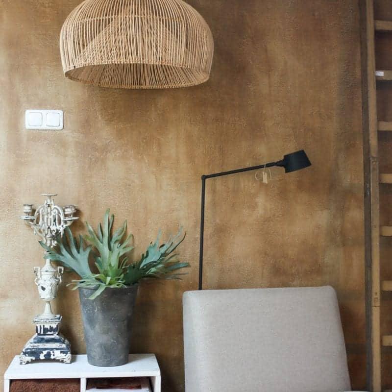 Betonlookverf - inspiratie - muren - cognac