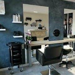 Betonlookverf - inspiratie - bedrijven - denim - kapper - kapsalon - schoonheidsspecialist - luxe